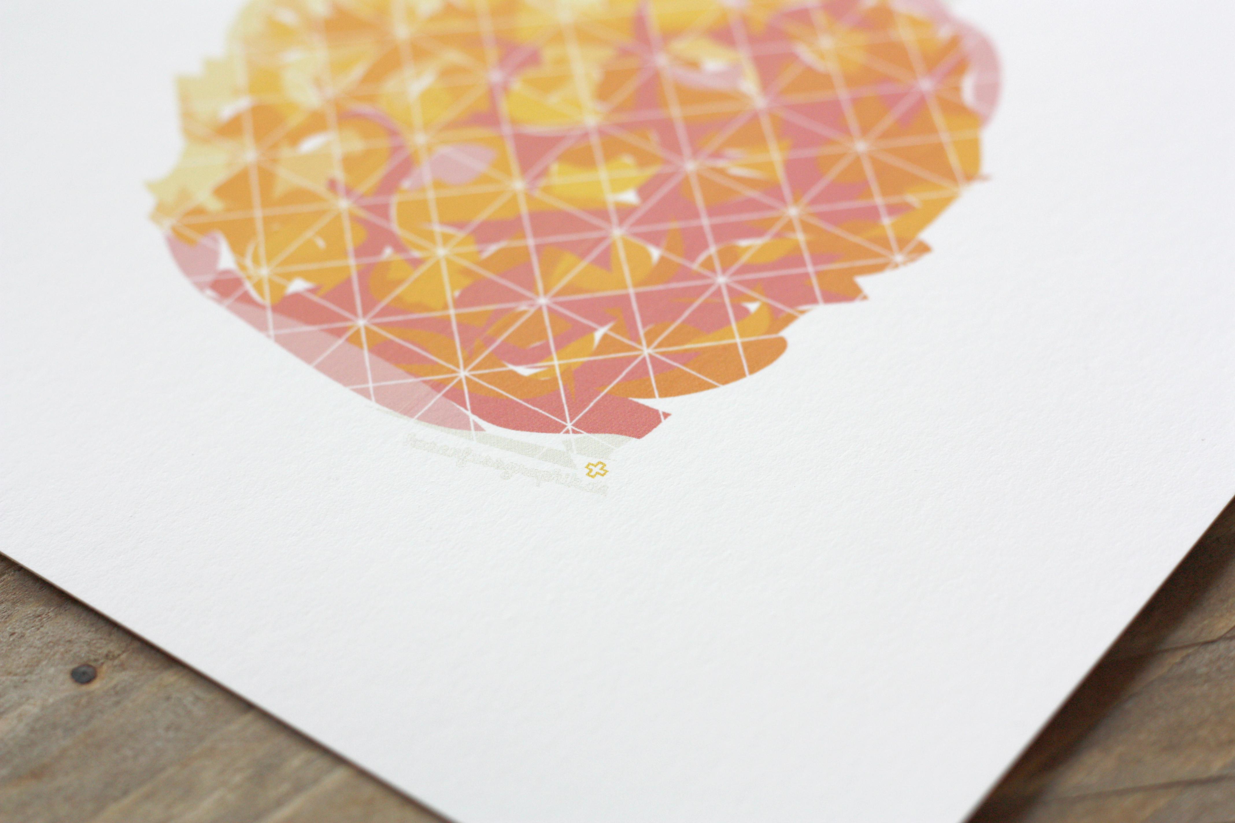 Illustration Ananas als Print Poster für hasenfussgrafik im Detail