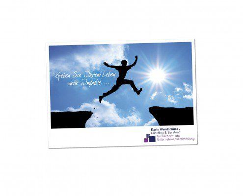 Grafik Design für einen Flyer als Postkarte