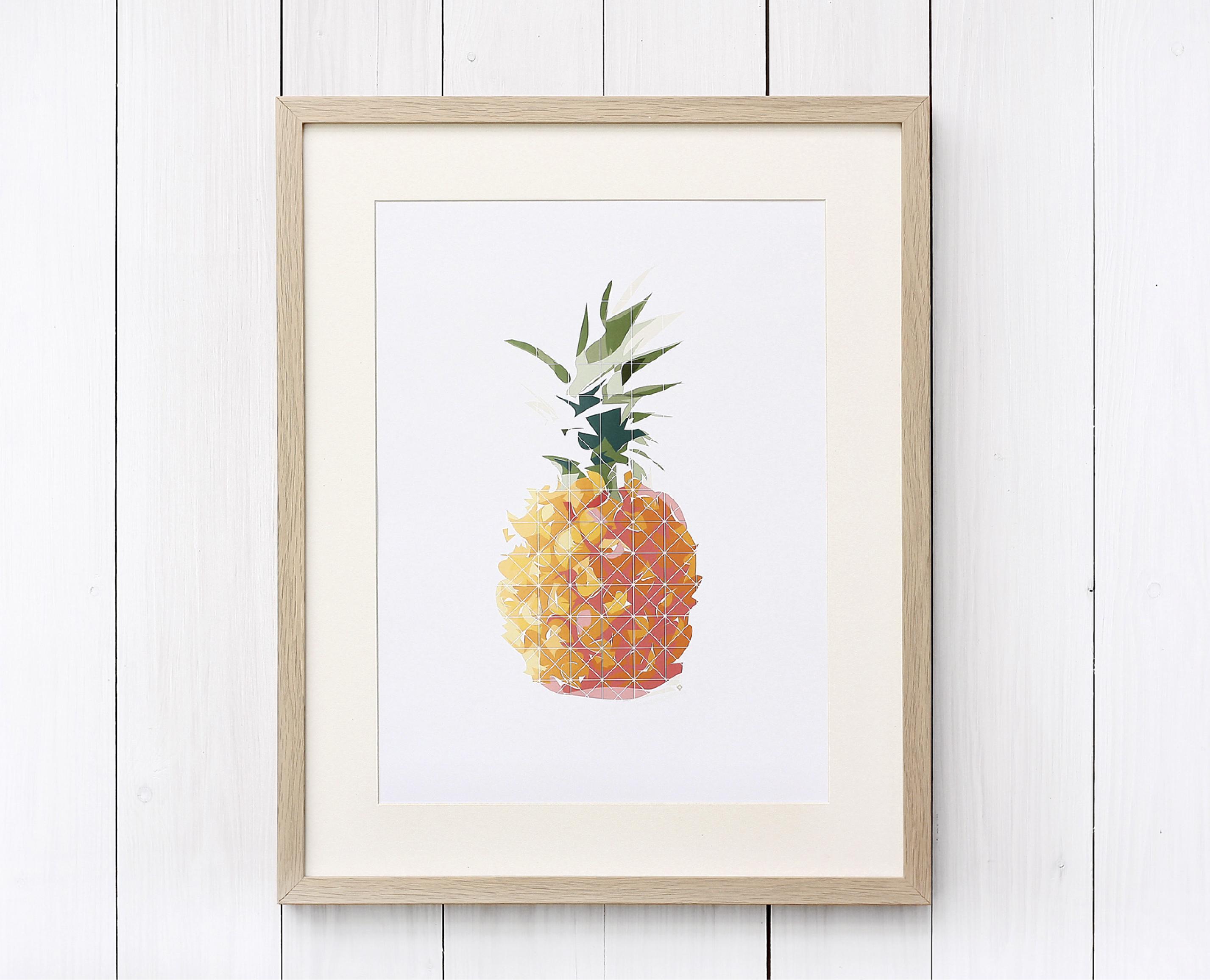 Illustration einer Ananas als Print für hasenfuss – graphisches Kabinett