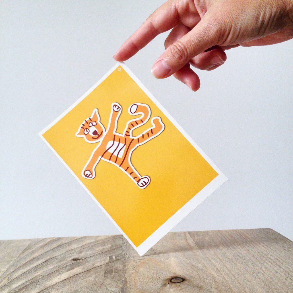 Postkarte Dieter, der Tiger von hasenfuss