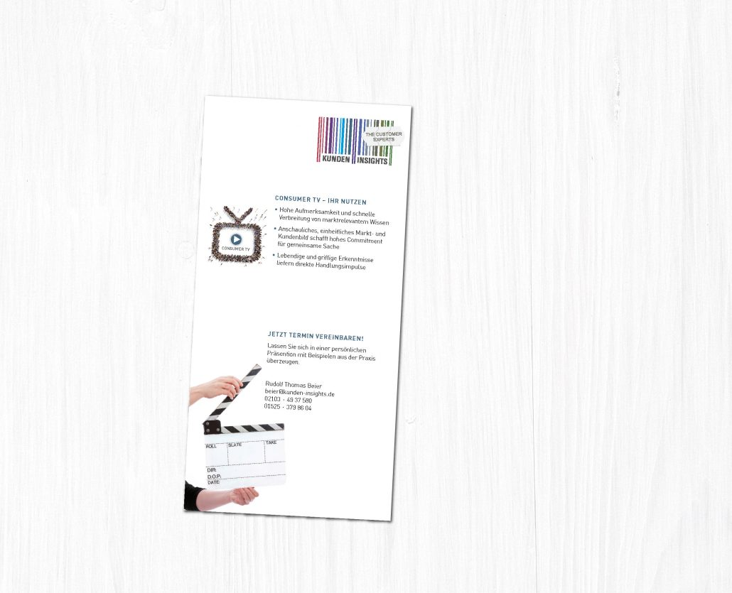 Flyerdesign für ein Marktforschungsinstitut