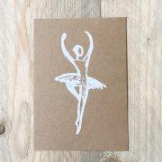 weiße Tänzerin