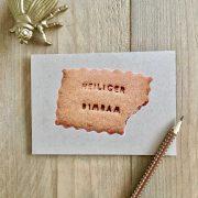 """Die Weihnachtskarte mit Keks """"Heiliger Bimbam"""" im DaWanda Shop hasenfuss"""