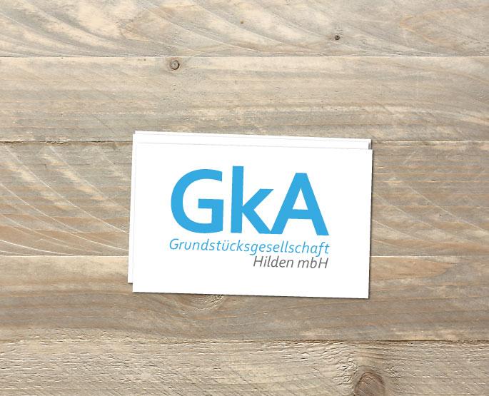 Logo-Design für die GKA-Grundstücksgesellschaft Hilden