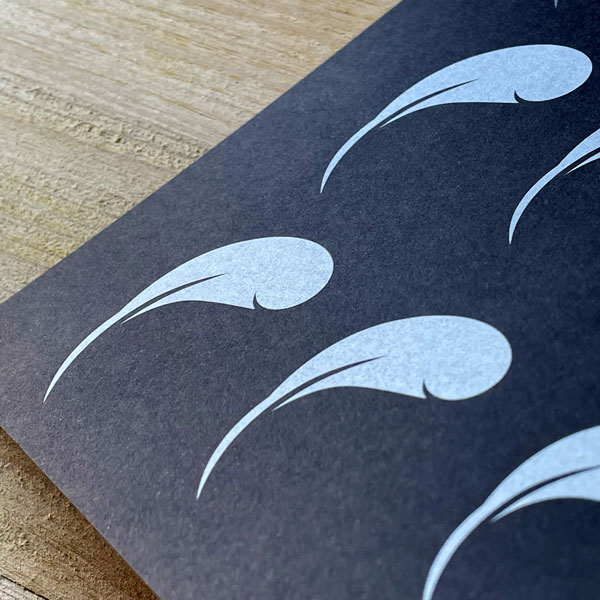 Papierveredelung Weissdruck