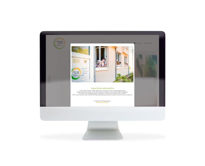 Webdesigner Hilden Design für eine Physiotherapeutin